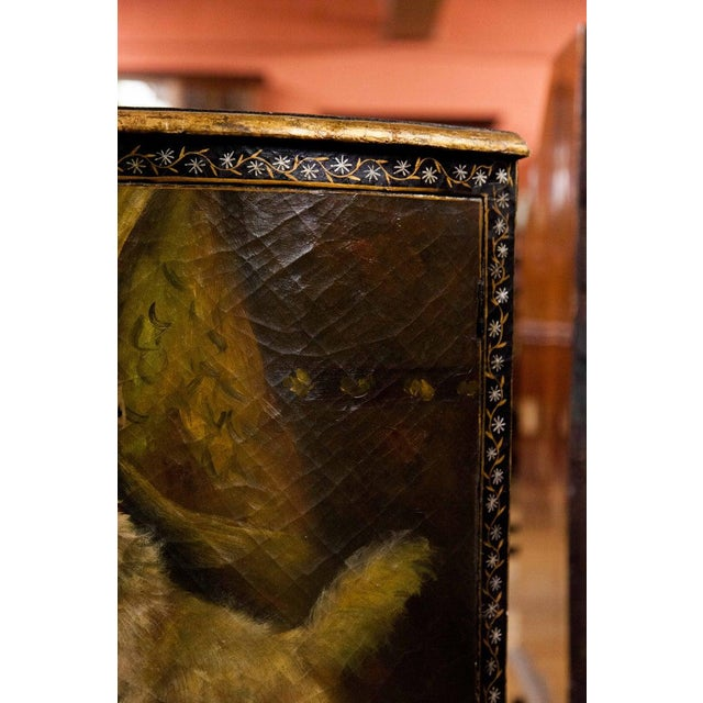 Brown 19th Century Painted Corner Cupboard For Sale - Image 8 of 10