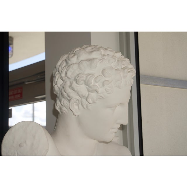 """Neoclassical Revival """"Hermes"""" Plaster Bust For Sale - Image 10 of 13"""