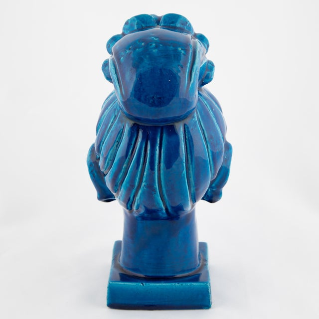 """Rimini Blu"" Ceramic Guan Yin Bust by Aldo Londi for Bitossi, Circa 1960s For Sale In New York - Image 6 of 13"