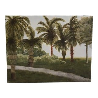 Contemporary Landscape Palm Tree Painting