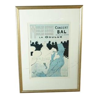 Framed Moulin Rouge Poster For Sale
