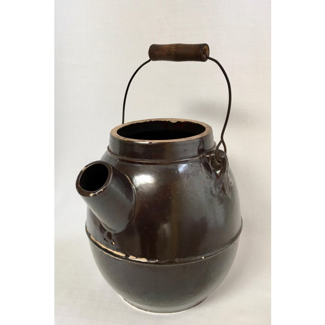 American Antique Stoneware Batter Jug For Sale - Image 3 of 10