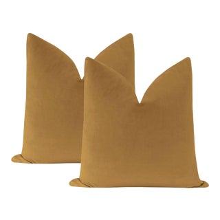"22"" Sable Velvet Pillows - a Pair For Sale"