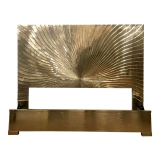 Universal Furniture Modern Silver Foil King Bed Prototype For Sale