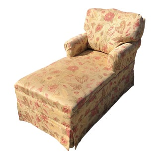 Skirted Floral Chaise Lounger For Sale