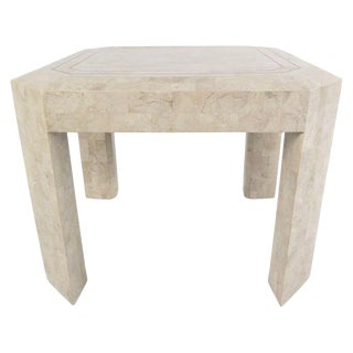 Vintage Tessellated Stone End Table After Maitland Smith For Sale