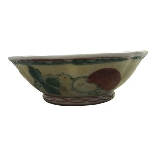 Yellow Chinese Export Porcelain Bowl For Sale