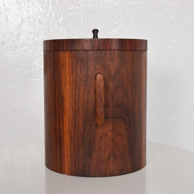 Mid-Century Modern Rosewood Ice Bucket For Sale In San Diego - Image 6 of 11