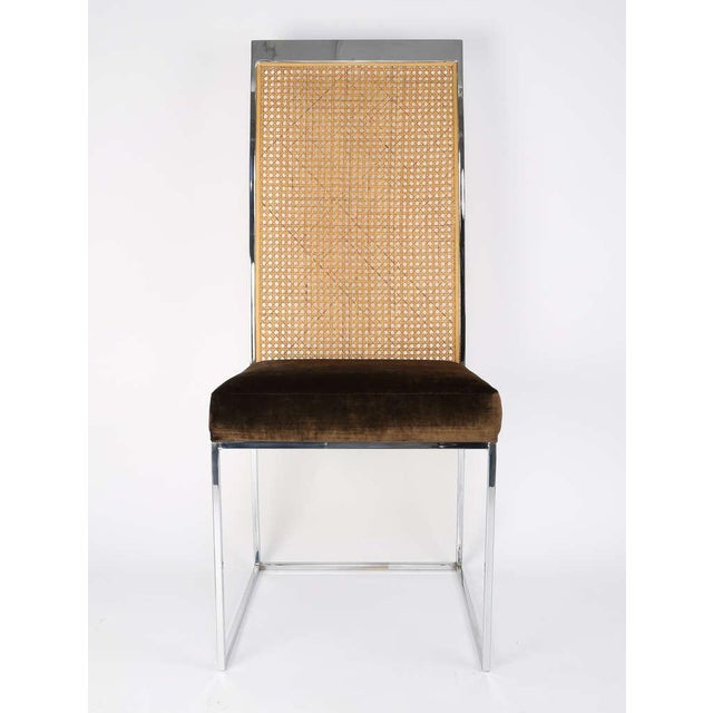 Caning Six High Back Cane Dining Chairs by Milo Baughman for Thayer Coggin For Sale - Image 7 of 11