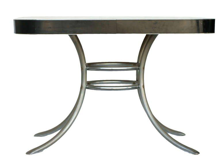 Fine Mid Century Formica Kitchen Table With Chrome Legs Decaso