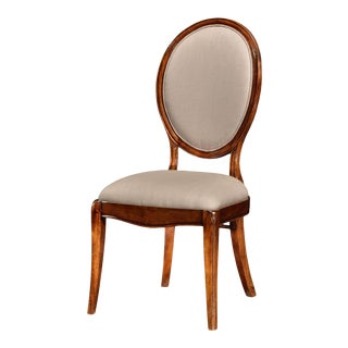Neo Classic Oval Back Side Chair For Sale
