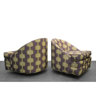 Mid-Century Barrel Swivel Chairs - A Pair Preview