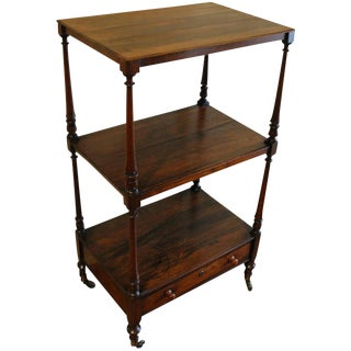 English Regency Rosewood Etagere For Sale