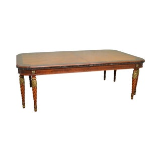 "Henredon Grand Provenance 136"" Regency Style Large Walnut Dining Table"