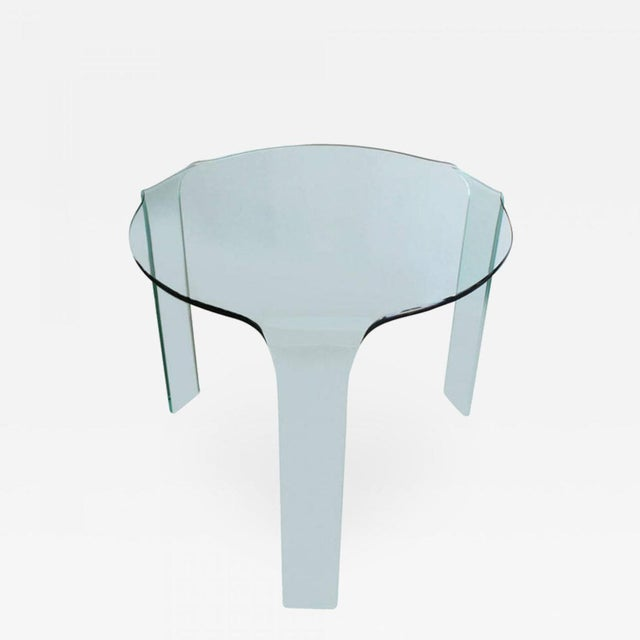 Fiam Italy Molded Glass Table For Sale In New York - Image 6 of 6