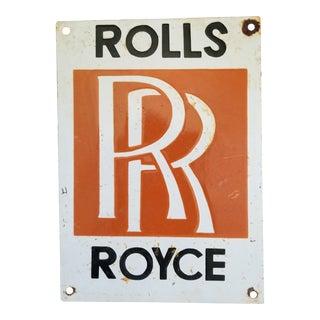 Enamel Rolls Royce Sign