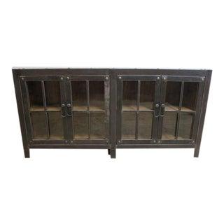 Industrial Reclaimed Metal Server Sideboard