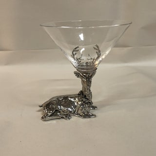 Silver Deer Cocktail Glasses - a Pair Preview