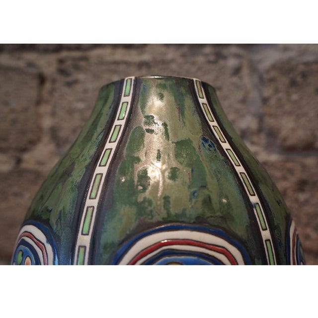 Mid-Century Modern 1920s Maurice Dufrane Vase For Sale - Image 3 of 7