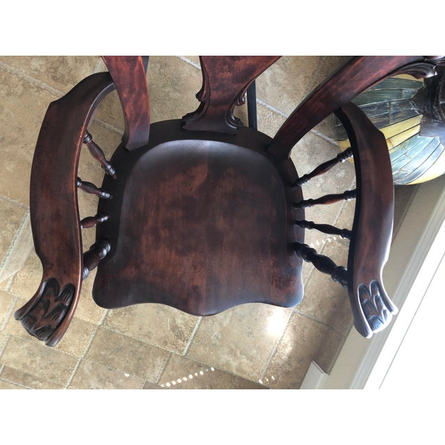 Jacobean Colonial Revival-Inspired Carved Rocking Chair For Sale - Image 9 of 13
