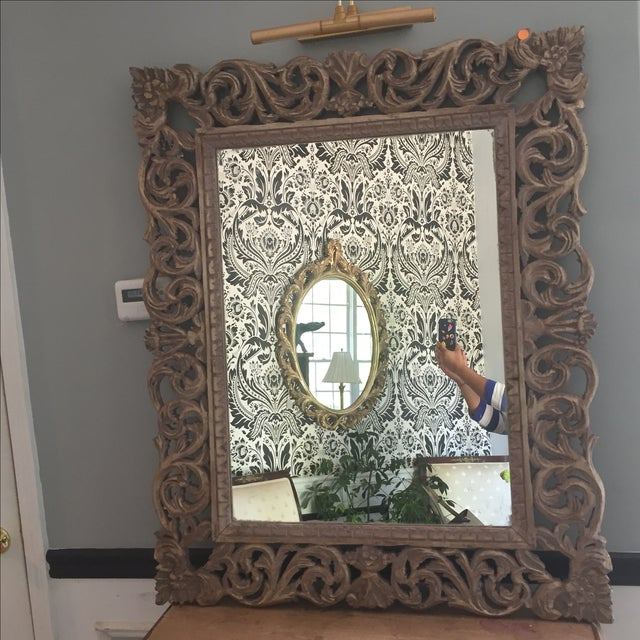 Large Gilded Acanthus Scrolling Wooden Mirror - Image 2 of 4