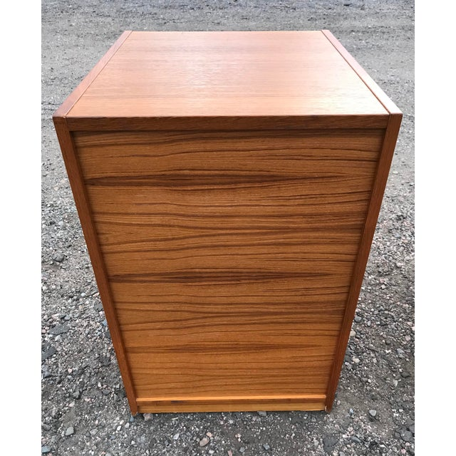 1970s Danish Teak File Cabinet on Casters by Jesper For Sale - Image 5 of 13