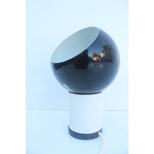 Valenti & Co. Italian Mod White & Black Table Lamp - Image 8 of 9