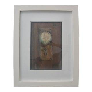 Lithograph of Original Pastel Realistic Symbolism Painting of Antique Doorknob For Sale