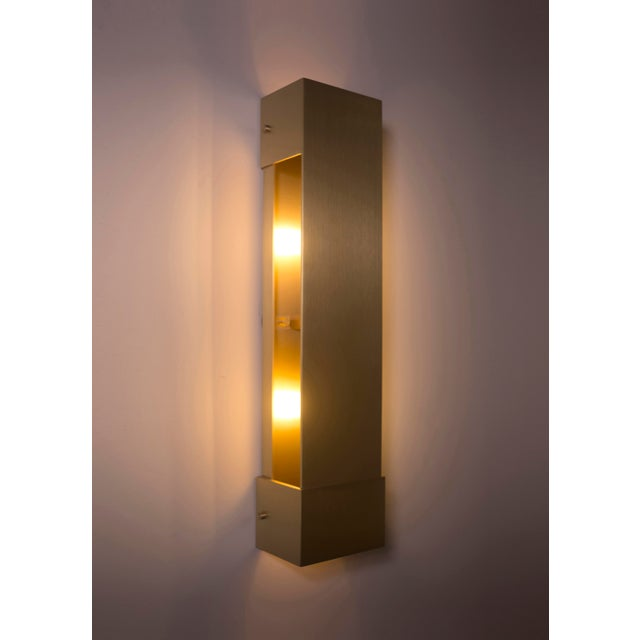 Contemporary Modern Contemporary 001 Picture Light in Brass by Orphan Work For Sale - Image 3 of 6