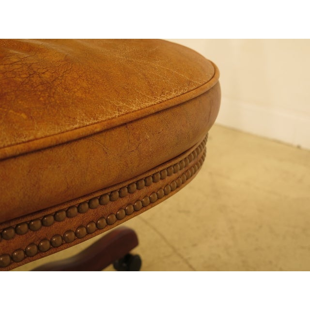 Brown Century Tufted Leather Office / Desk Chair For Sale - Image 8 of 12