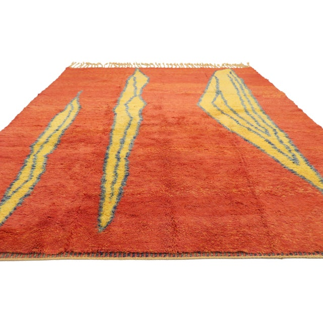 Abstract Expressionism Moroccan Contemporary Rug Inspired by Paul Klee - 07'01 X 09'09 For Sale - Image 3 of 10