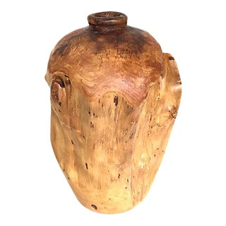"Douglas Fir Burl 13"" Hand-Turned Vase For Sale"