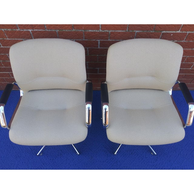 Beige 1980's Vintage Steelcase Chair For Sale - Image 8 of 12