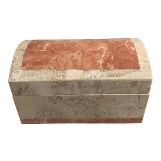 1980's Maitland-Smith Style Tessellated Stone Box For Sale