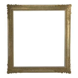 1950s Large Carved Wood Frame For Sale