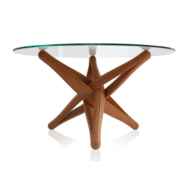 Mid-Century Modern Lock Bamboo Dining Table Base For Sale - Image 10 of 13