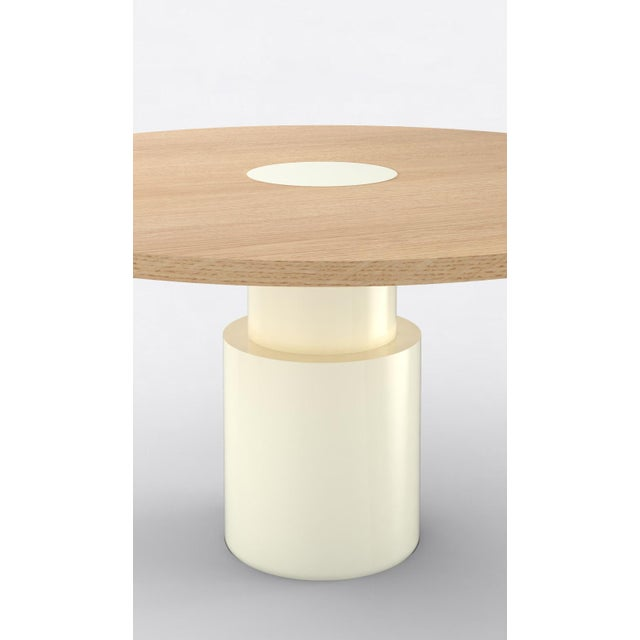 Contemporary Contemporary 100 Dining Table in Oak and White by Orphan Work, 2019 For Sale - Image 3 of 6