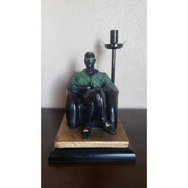 Black 1980's Reto Figurative Pop Culture Table Lamp For Sale - Image 8 of 13
