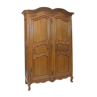 Late 19th Century Louis XV Style Oak Armoire For Sale