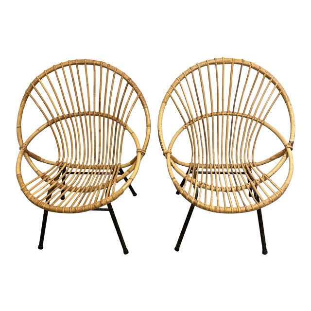 Mid Century Chairs - a Pair For Sale