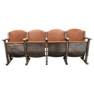 Vintage Leather Theater Seats For Sale
