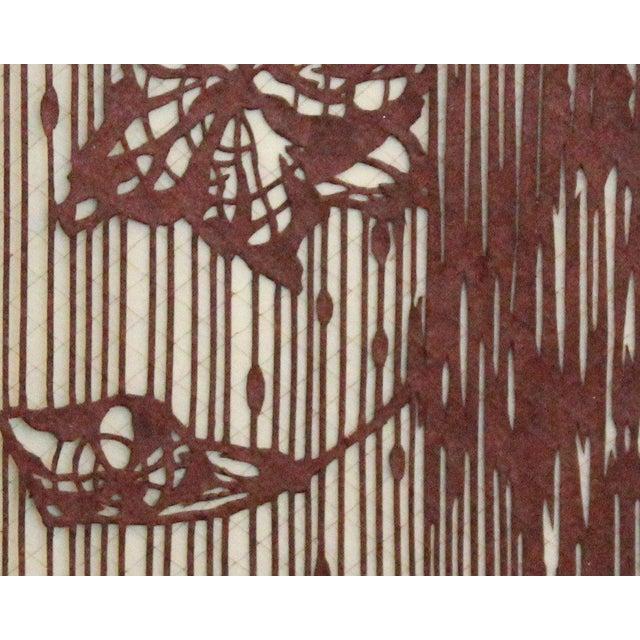 0aeafe36c Fabric Antique Japanese Kimono Fabric Stencil Katagami For Sale - Image 7  of 10
