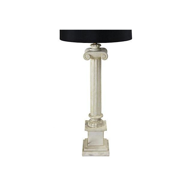 Alabaster Column Table Lamps - a Pair - Image 3 of 5