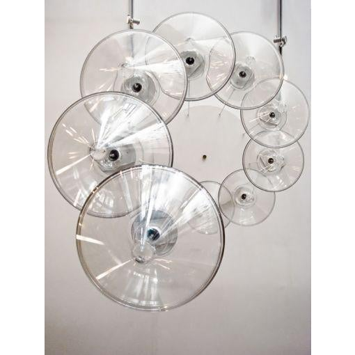Acrylic Monumental Nine Tier Chandelier by RAAK For Sale - Image 7 of 10
