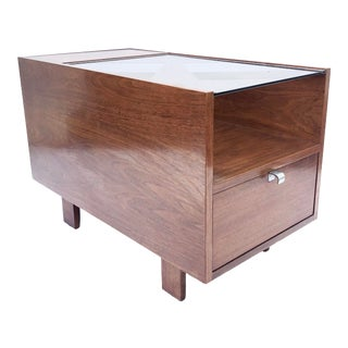 George Nelson Side Table With Glass Top for Herman Miller For Sale