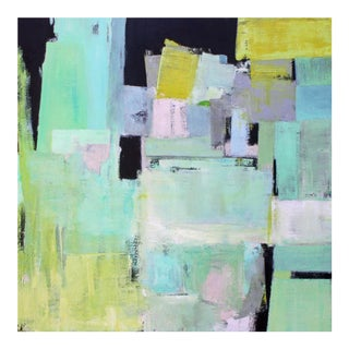Paul Ashby Pastel Colors Original Abstract Square Painting