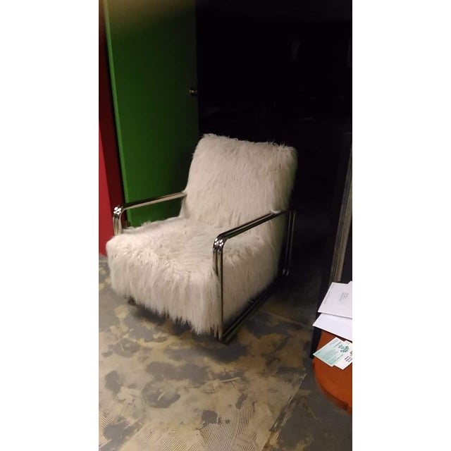 Contemporary Faux Fur Chair For Sale - Image 3 of 8