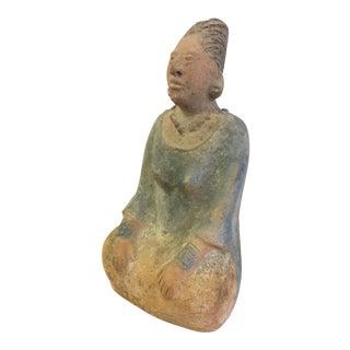 Petite Clay Mayan Figurative Sculpture