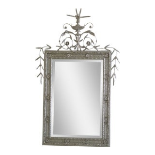 Modern Friedman Brothers Silver Gilt Adam Mirror For Sale
