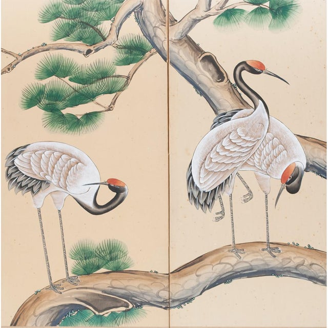 Late 19th - Early 20th Century Japanese Byobu Screen For Sale - Image 4 of 13